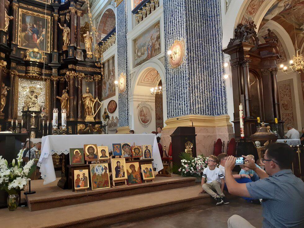 Kościół w św. Lipce - wystawa ikon